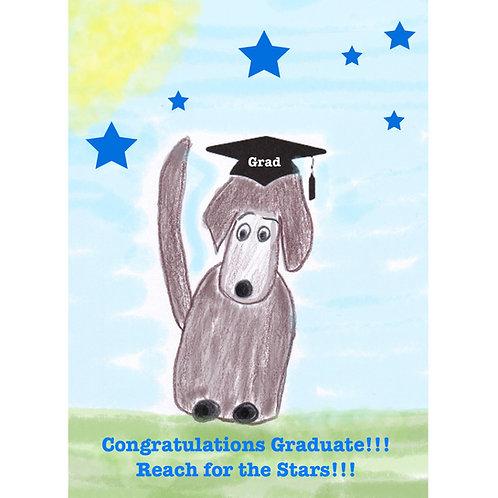 Graduation Card with a graduating dog