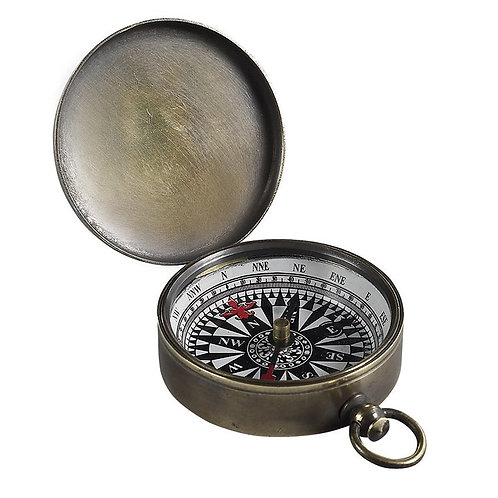 Small Bronzed Compass with Cover from Authentic Models – CO002B