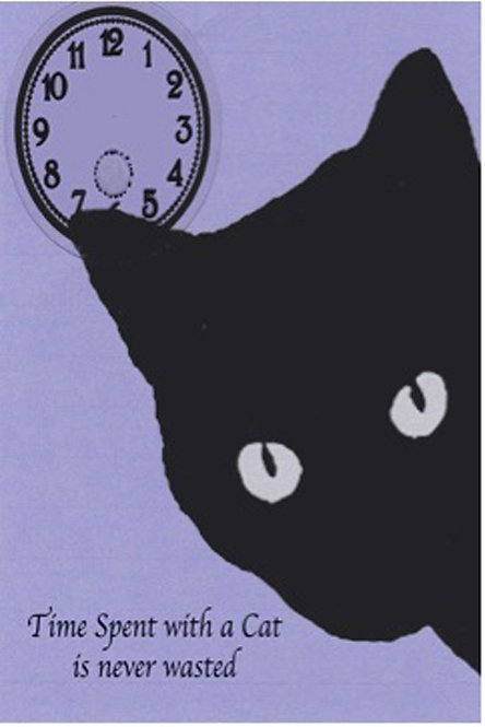 Greeting Card - Time Spent with a Cat