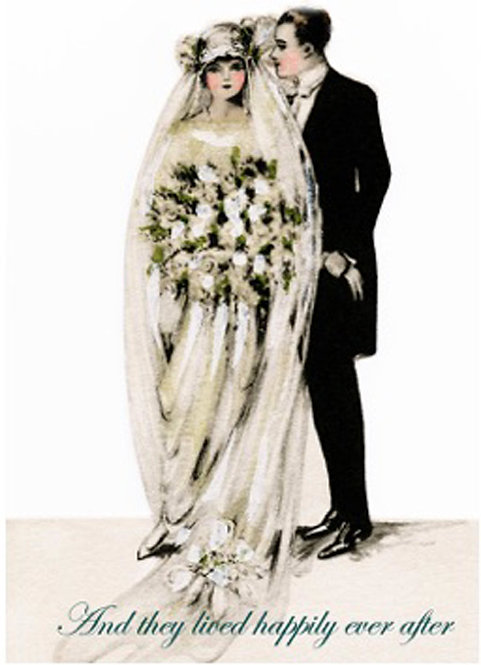 Wedding Card - And They Lived Happily