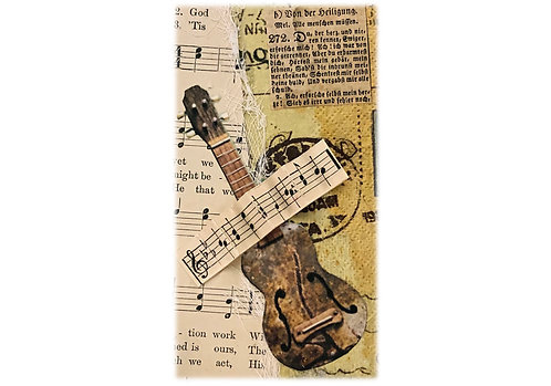Large Note Art Card - Music Music Music