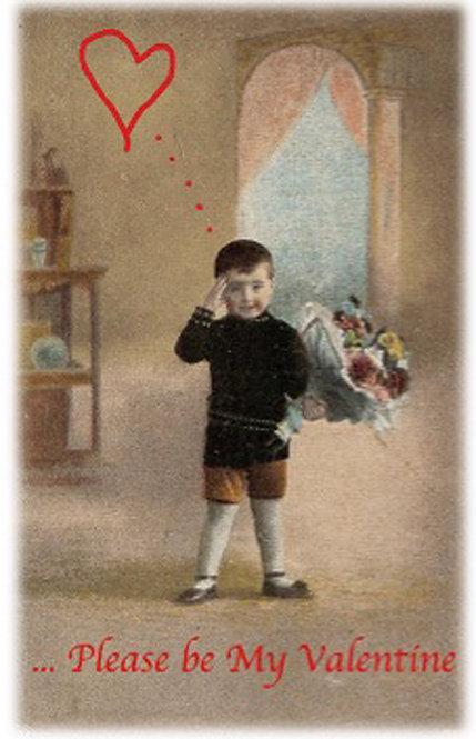 Valentine Greeting Card - Boy Please be My Valentine