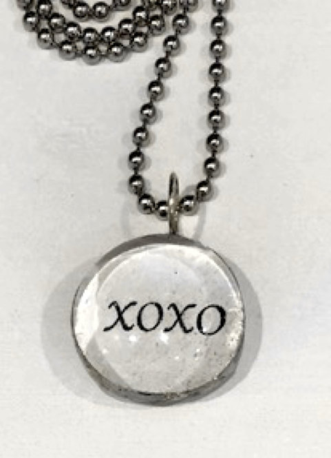 XOXO Soldered Pendant with Ball chain