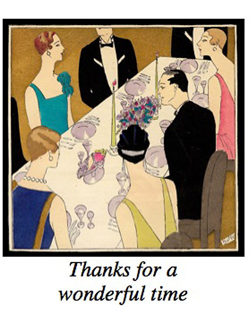 Thank You Card - Deco Dinner