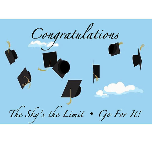 Graduation Greeting Card - Congratulations - Go For It!