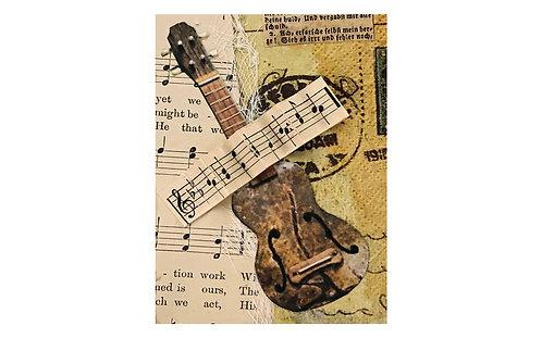 Greeting Note Art Card - Music Music Music