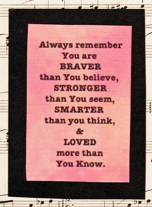 Always Remember Card