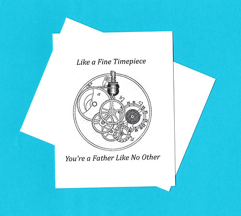 Father's Day Greeting Card - Gears of a Watch
