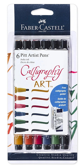 Pitt Artist Pen® Calligraphy Multi Color Pens Set of 6