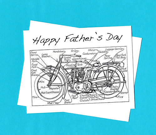 Father's Day Greeting Card - Motorcycle