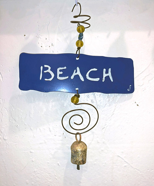 BEACH Affirmation Hanging Wind Chime by Jendala