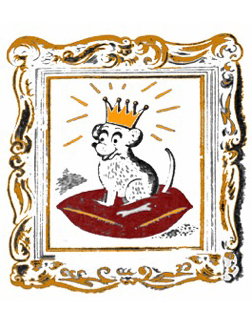 Greeting Card - Dog with a Crown