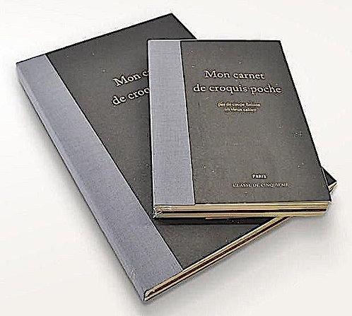 Mon Carnet de Croquis Poche - Time Concept Rough Composition Notebook 144 Sheets