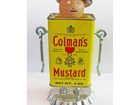 Meet the Colmans ... Spice Tin Robots