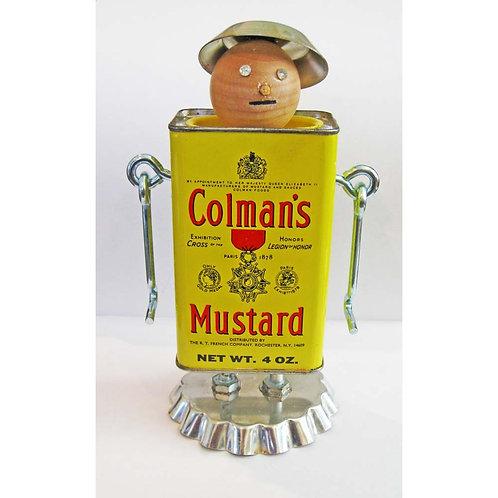 Spice Tin Robot Handmade Vintage Colman's Mustard Tin Man