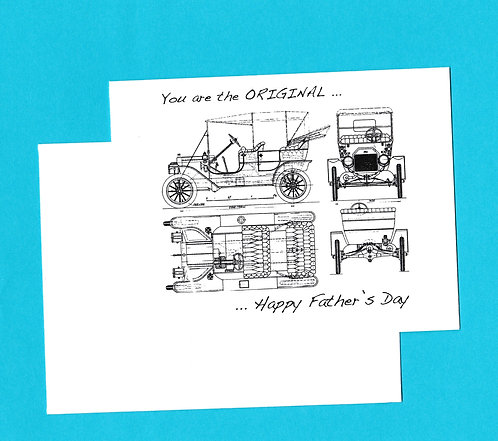 Father's Day Greeting Card - Model-T Diagram