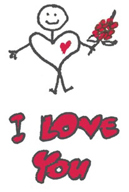 Valentine/Love Greeting Card - Heartman I Love You