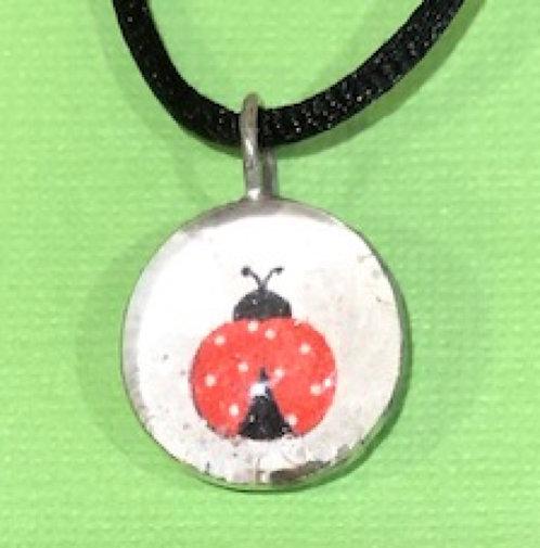 Handmade Ladybug Pendant