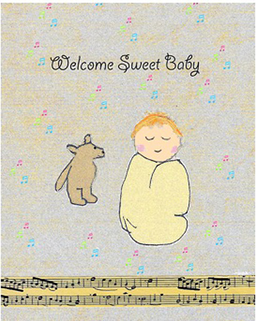 Greeting Card - Welcome Sweet Baby