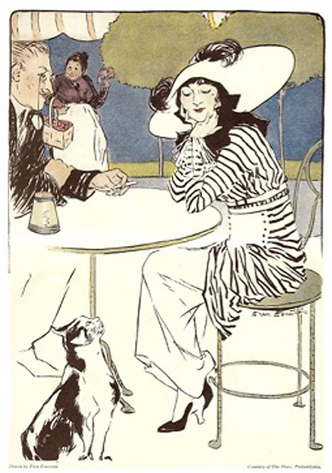 Greeting Card - Lady with Cat