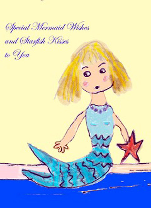 Greeting Card - Mermaid Wishes