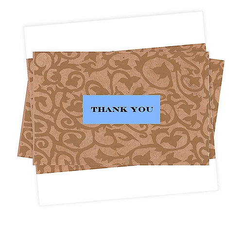 Thank You Note Cards Greeting Cards Boxed set of 5