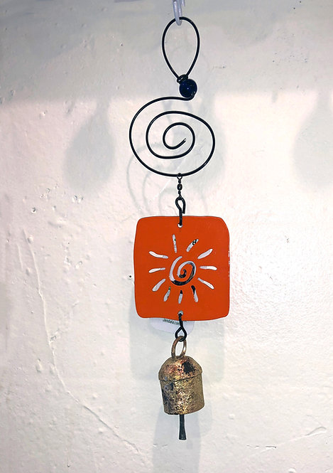 Sun Cut-out Ornament Hanging Wind Chime by Jendala