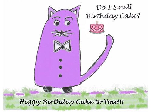 Birthday Card - Do I Smell Birthday Cake?