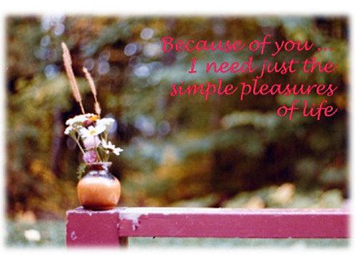 Greeting Card - Simple Pleasures