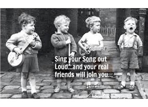 Greeting Card - Sing Your Song Out Loud