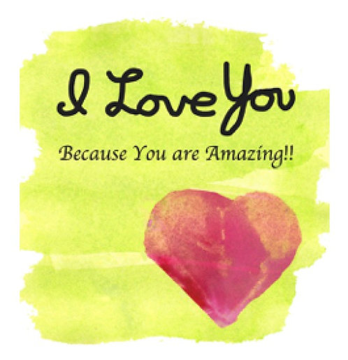 Valentine/Love Greeting Card - You Are Amazing