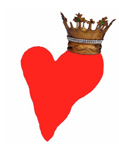 Valentine/Greeting Card - Heart with Crown