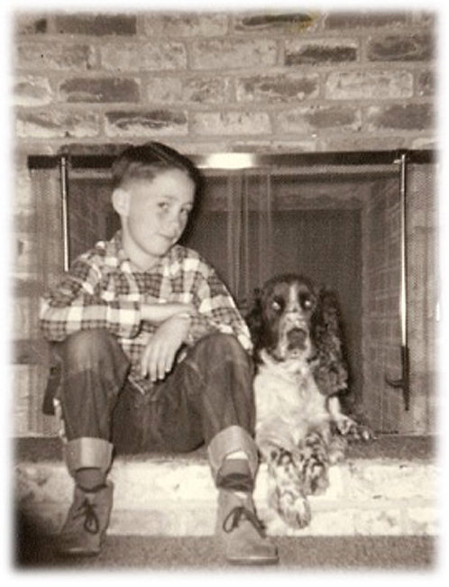 Greeting Card - A Boy and His Dog