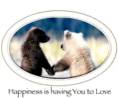Greeting Card - Happiness Is