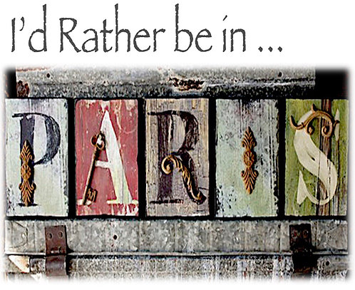 Greeting Note Card - I'd Rather be in Paris
