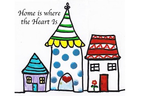 Greeting Card - Home is Where the Heart Is