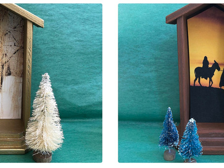 Handmade and Hand Painted Shrine or Nativity Set for Holiday Decor