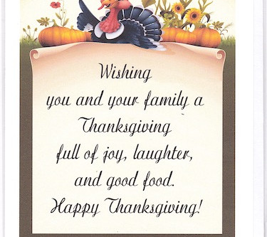 Send Thanksgiving Greetings in Writing