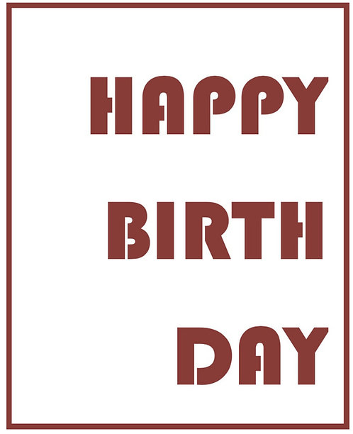Birthday Greeting Card - Happy Birthday