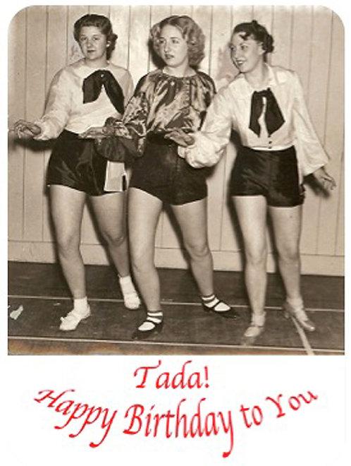 Birthday Card - Tada Happy Birthday
