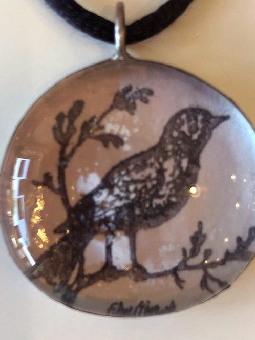 Soldered Bird Pendant