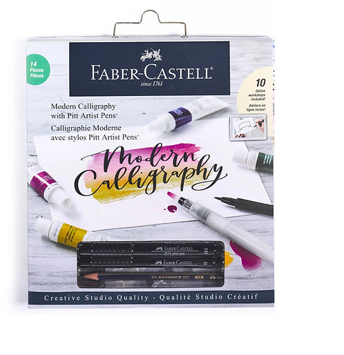 Faber-Castell Creative Studio Modern Calligraphy Kit – Pens, Brushes, Media