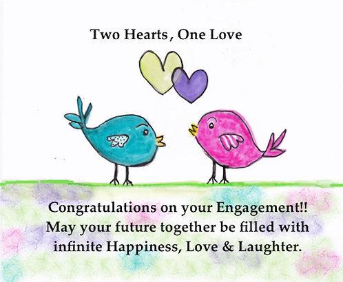Greeting Card One Love Engagement Card