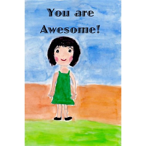 Affirmation Card - You Are Awesome!