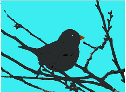 Greeting Card - Bird on Branch