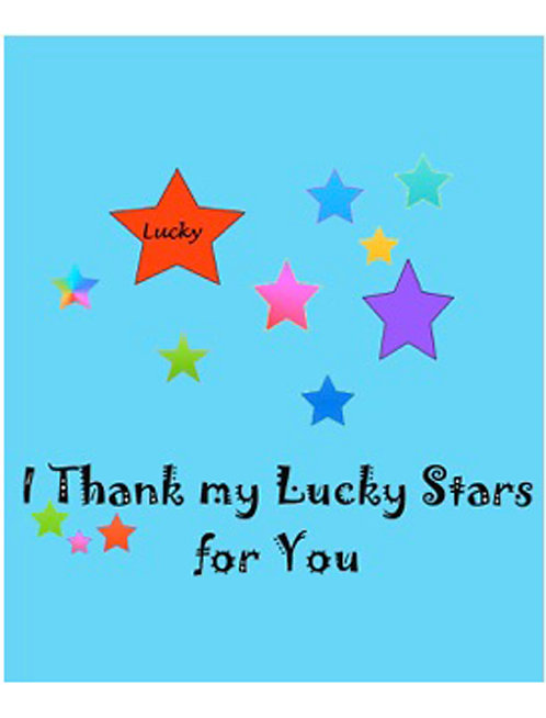 Thank You Card - I Thank My Lucky Stars for You