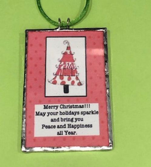 Two-Sided Christmas  Holiday Ornament