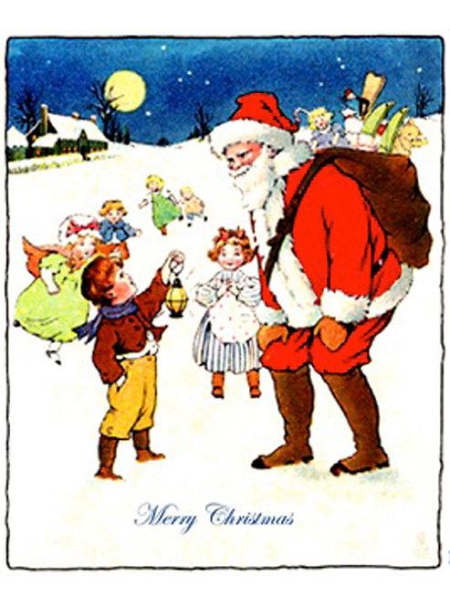 Christmas Card - Santa with Children