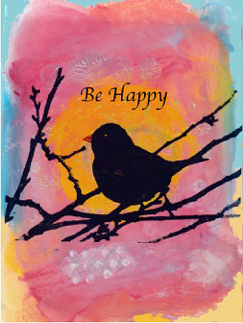 Greeting Card - Be Happy