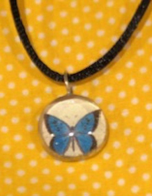 Handmade Blue Butterfly Pendant